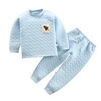 口袋虎0至6岁儿童时尚三层夹棉保暖套装