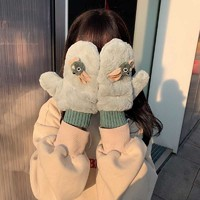 Karaya 女生毛絨保暖掛脖手套