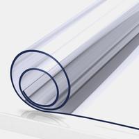 京東PLUS會員 : FOOJO 桌布透明軟玻璃PVC飯桌膠墊 防水防油塑料臺布茶幾餐桌墊水晶板 80*130cm *3件