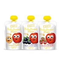 寶力臣果汁泥3口味3袋 寶寶嬰幼兒輔食 嬰兒果泥 吸吸袋非小皮