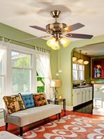 OPPLE吊扇燈風扇燈客廳餐廳臥室家用簡約現代帶LED風扇歐式吊燈