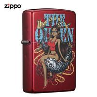 之寶(ZIPPO)打火機 錦鯉傳說 蘋果紅粉漆彩印 21063-C-000001煤油防風火機