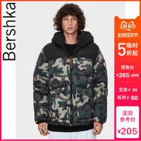 双11预售 Bershka男士 2019秋新款迷彩连帽夹克外套 06397086548