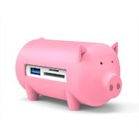 Orico/奧睿科 USB3.0高速分線器+SD/TF讀卡器 筆記本電腦集線器HUB多接口擴展器 豬年紀念款