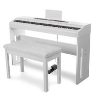 SUOSite 索思特 電鋼琴 單踏板力度鍵木紋款 象牙白(配雙人琴凳+大禮包)