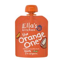 英國 艾拉廚房Ella's kitchen 有機蘋果芒果香蕉椰汁混合橙色果泥嬰兒輔食寶寶零食90g 6個月以上 *5件