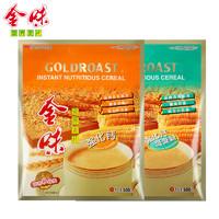 金味營養麥片 強化鈣+強化鈣低聚糖 600g袋裝 2袋組合裝 正品包郵