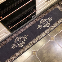 輕奢歐式長條廚房地墊吸水防滑腳墊耐臟防油進門門墊家用地毯墊子
