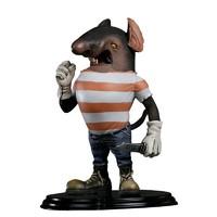 POPMART泡泡瑪特 末那末匠《黑貓警長》吃貓鼠潮流藝術品玩具擺件