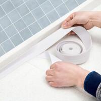 家の物語 日本墻角線貼廚房防水膠帶防撞條 白色 *3件