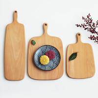 實木制 櫸木面包砧板木板兒童水果沙拉菜板木質披薩板烘焙