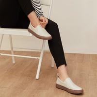 女式舒軟牛皮樂福鞋