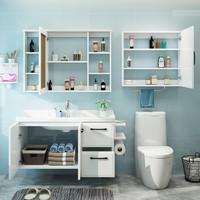 Uniler 聯勒 實木浴室柜套裝掛墻式組合 清云系列