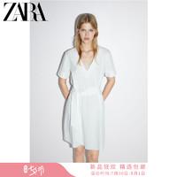 ZARA 01165702251 女裝 配腰帶質感連衣裙