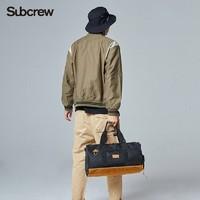 Subcrew潮牌健身包2019新款旅行收納包戶外黑色單肩手提包行李包