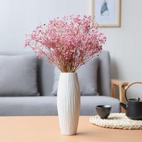 木子西年 北歐小號陶瓷花瓶擺件滿天星干花水培花器客廳電視柜家居軟裝工藝品 不含花(高約20厘米) *3件