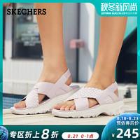 SKECHERS 斯凱奇 66666208 女士厚底松糕熊貓鞋涼鞋