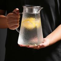 加厚耐熱錘紋玻璃涼白開水壺1800ml大容量家用耐高溫泡茶