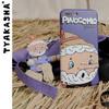 TYAKASHA塔卡沙童話系列 藍紫色插畫手機殼JFTN37