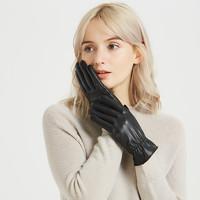 譽赫    男女水洗皮觸屏手套