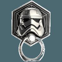 影時光 星球大戰周邊 3D風暴兵銀色金屬創意桌面多功能手機指環扣