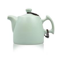 艾芳貝兒(AlfunBel)汝窯壺小茶壺 泡茶器 可養開片 天青巧把壺(約150ml)C-43-3 *3件