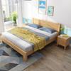 海善家 實木床 現代簡約主臥全實木床北歐1.5米1.8米原木北歐雙人床木質 臥室家具