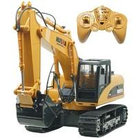匯納 遙控挖掘機大型 工程車15通道多功能可充電男孩玩具車升級版合金挖掘機型號550
