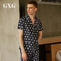 GXG內衣 春夏款男士純棉家居服睡衣男透氣舒適休閑薄款短袖套裝 *4件