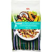 5日10點、88VIP : ICA 50%堅果水果 燕麥片 750g *3件 +湊單品