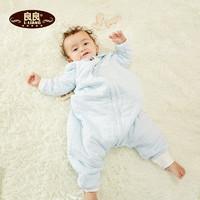 良良 DS16S12-1 嬰兒睡袋 寶寶分腿睡袋防踢被新生兒加厚幼兒童純棉睡袋 75/85cm *3件+湊單品