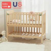 11日0點、雙11預告 : BabyCare 無漆原木嬰兒實木床