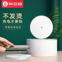 畢亞茲 無線充電器 蘋果iPhoneXs Max/XR快速充電底座 M13白色 *2件