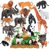 紐奇(Nukied)動物園仿真模型霸王龍野生動物益智玩具 帶場景動物王國44件套 *3件