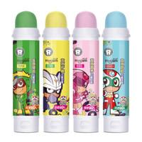 皓齒健開心超人兒童牙膏可吞咽 無氟防蛀小學生 7-12歲蘋果味加檸檬味