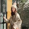 帽子女秋冬大毛球毛線帽潮百搭韓版護耳套頭帽冬天保暖羊毛針織帽