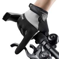 戶外騎行手套防曬夏天薄款觸屏運動手套登山跑步速干透氣釣魚手套 黑色 M