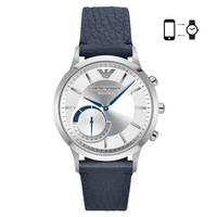 阿瑪尼(Emporio Armani) 手表 時尚歐美智能表藍帶白盤 ART3003