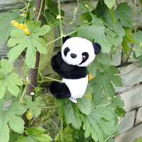 出國紀念品 熊貓夾子毛絨玩具玩偶便簽夾子小公仔 送老外小禮物