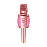 山水(SANSUI)山水S18全民k歌麥克風藍牙話筒音響一體蘋果安卓兒童手機專用戶外 玫瑰金