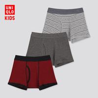 UNIQLO 优衣库 男童短裤 3条装