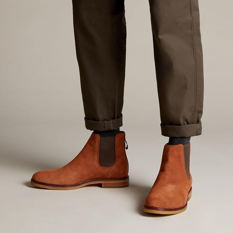 Clarks dale Gobi 男士切尔西短靴