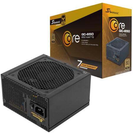 SEASONIC 海韵 游戏酷核 CORE 650 额定650W 电源(80PLUS金牌/七年质保)
