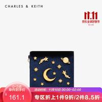CHARLES&KEITH;女包CK6-50680560星空系列多功能手拿卡包 深藍色