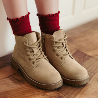 Teenmix 天美意 儿童加绒马丁靴