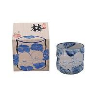 九谷焼 椿图案 匠人手作  茶杯 180ml