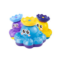 huanqi環奇兒童小噴泉會旋轉自動噴水電動八爪魚玩具寶寶洗澡玩水戲水玩具 *3件