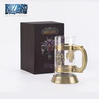 暴雪Blizzard 魔兽世界杯 联盟 部落 徽记啤酒杯玻璃杯水杯酒杯750ml 部落
