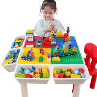 Plus会员:糖米(Temi)儿童玩具积木桌1椅+600小80大滑道+凑单品