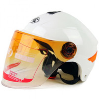 永恒摩托车头盔半盔夏季男电动车头盔女双镜片防晒轻便安全帽